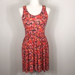Kimchi Blue   Urban Outfitters Orange Floral Dress